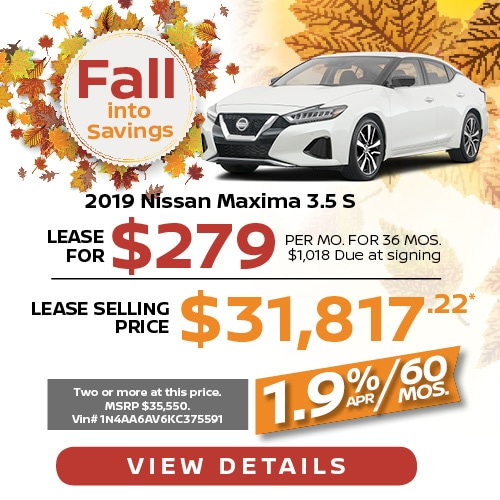 Lease a 2019 Nissan Maxima for $279/mo.