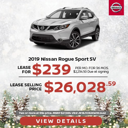 Lease a 2019 Nissan Rogue Sport for $239/mo.