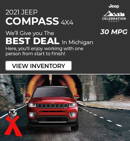 2021 Jeep Compass 4x4- 30 mpg