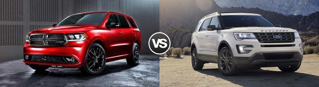 2017 Dodge Durango vs Ford Explorer