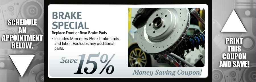 Mercedes Brake Pad Coupons Springfield MO | Mercedes Service