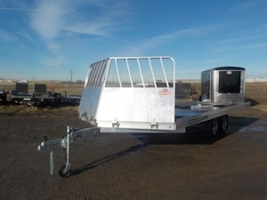 2019 Aluma 8618/15 Snowmobile Trailer W/2200# TORSION AXLE
