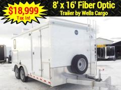 2015 Wells Cargo 8 X 16 - Fiber Optic