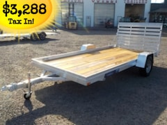 2019 Aluma 7814ESW WOOD DECK UTILITY TRAILER W/3500# TORSION AXLE