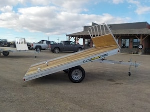 2019 Aluma 8612D Tilt Snowmobile Trailer W/2200# TORSION AXLE