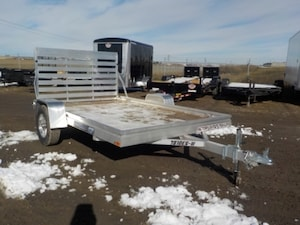2019 Aluma 7810ESW WOOD DECK UTILITY TRAILER W/3500# TORSION AXLE