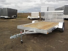 2019 Aluma 7812ESW WOOD DECK UTILITY TRAILER W/3500# TORSION AXLE