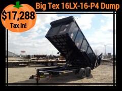 2018 Big Tex Trailers 16LX-16-P4 DUMP W/16000# GVWR