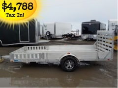 2018 Alcom U80X14RA-2.0 Utility Trailer W/3500# TORSION AXLE