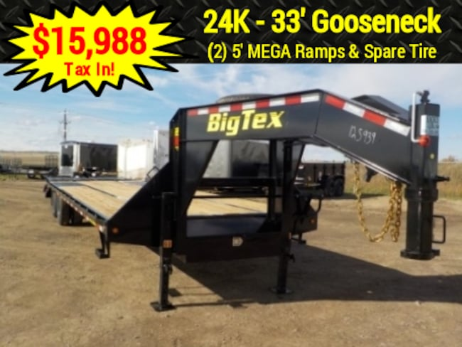 2019 Big Tex Trailers 22GN-28+5MR GOOSENECK W/23900# GVWR
