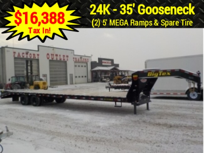 2019 Big Tex Trailers 22GN-30+5MR GOOSENECK W/23900# GVWR