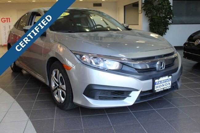 Used 2016 Honda Civic LX Sedan in Fairfax, VA