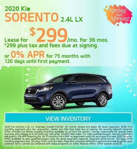 Kia Sorento 2.4L LX Special Offer