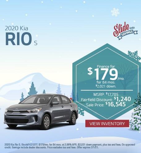 Kia Rio S Finance Special Offer