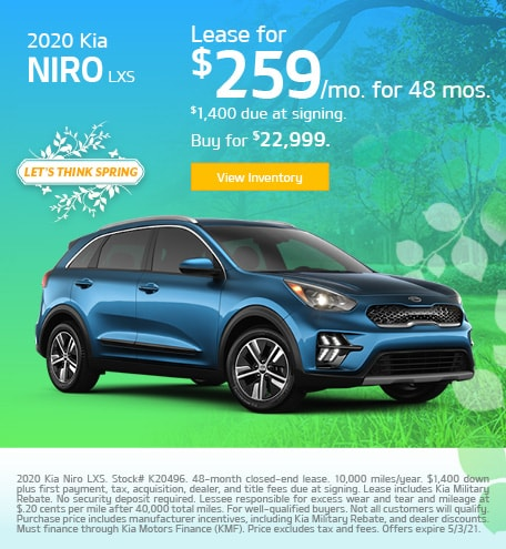 Kia Niro LXS Lease & Purchase Special Offer