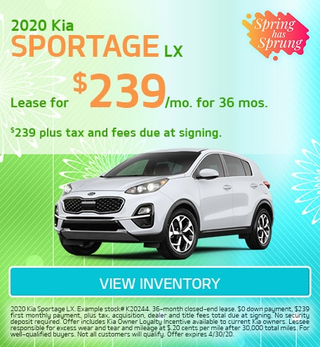 Kia Sportage LX Lease Offer