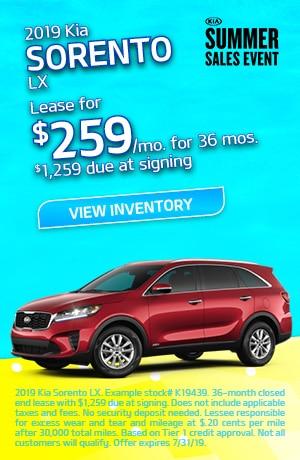 Kia Sorento 2.4L LX Lease Offer