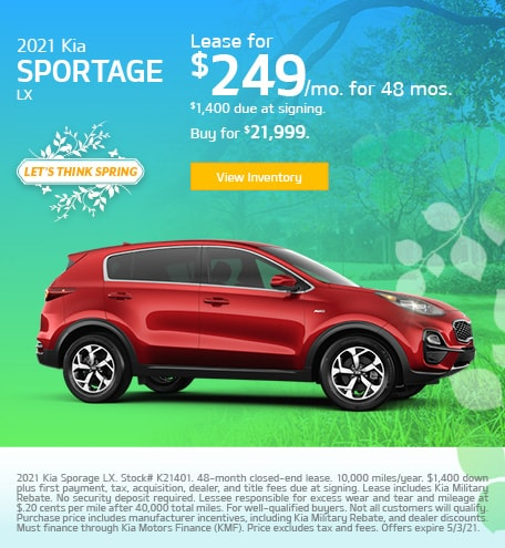 Kia Sportage LX Lease & Purchase Special Offer