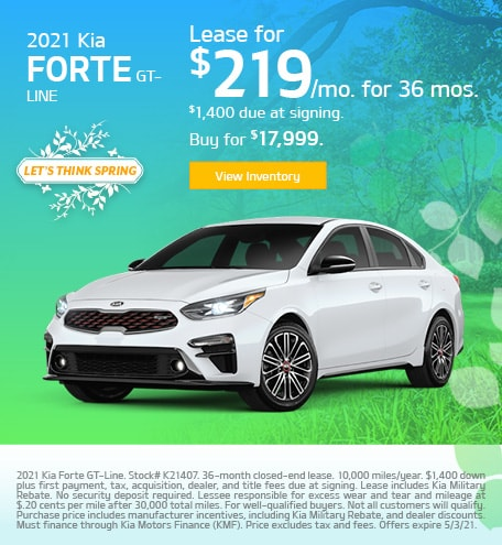 Kia Forte GT-Line Lease & Purchase Special Offer