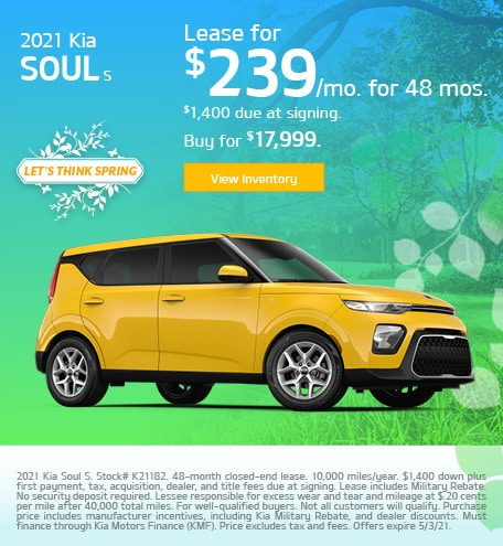 Kia Soul S Lease & Purchase Special Offer