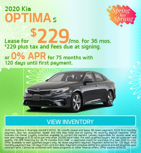 Kia Optima S Special Offer