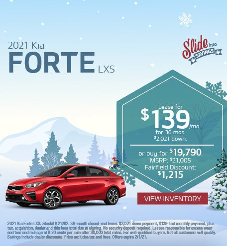 Kia Forte LXS Lease & Purchase Special Offer
