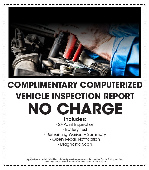 FREE Complimentary Computerized Vehicle Inspection Report