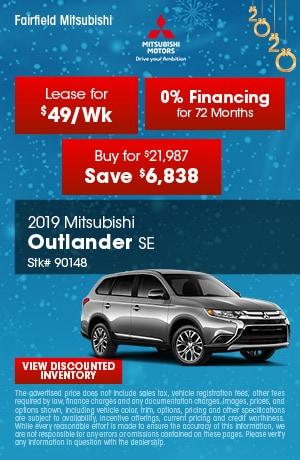 January 2019 Mitsubishi Outlander SE Offers