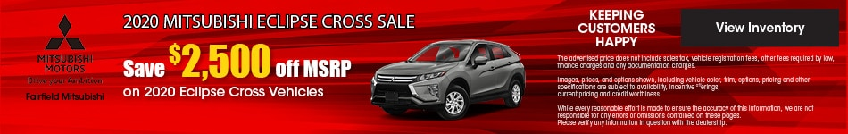 September 2020 Mitsubishi Eclipse Cross Sale