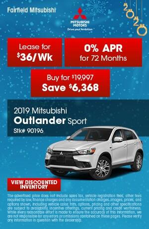 January 2019 Mitsubishi Outlander Sport Offers