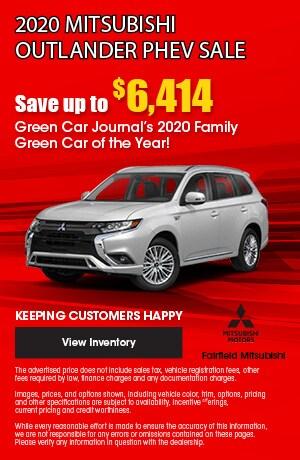 September 2020 Mitsubishi Outlander PHEV Sale