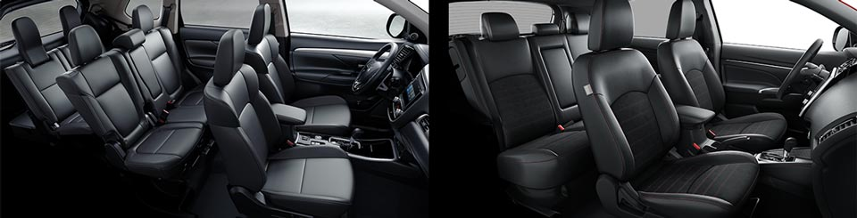 Outlander interior vs. Outlander Sport interior
