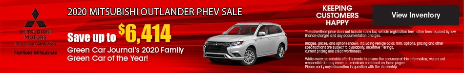 September 2020 Mitsubishi Outlander PHEV Sale