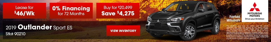 November 2019 Outlander Sport ES Offer - Stk# 90210
