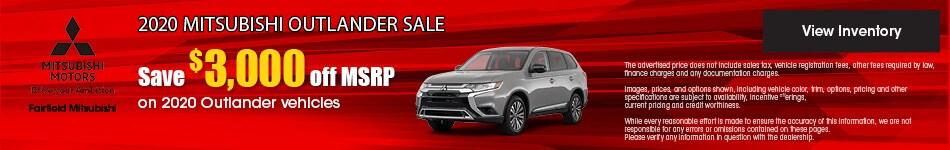 September 2020 Mitsubishi Outlander Sale