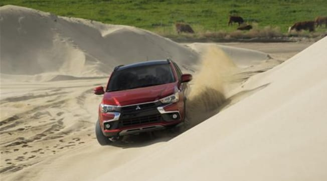 2016 Mitsubishi Outlander Sport driving in deep sand