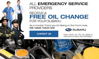 Free Oil Change for Emergency Service Providers