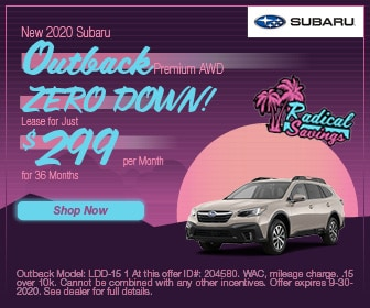 September 2020 Outback Lease Special