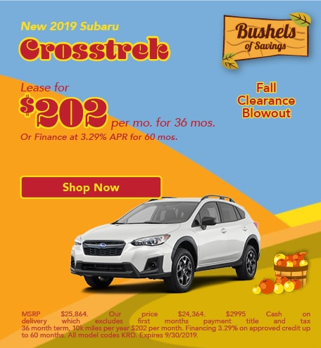 September 2019 Subaru Crosstrek Special