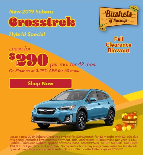 September 2019 Crosstrek Special