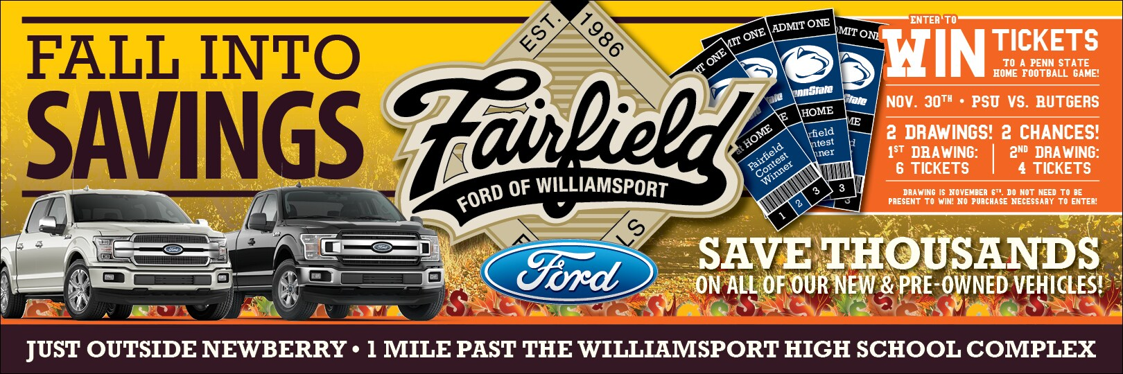 Fairfield Ford Williamsport Pa >> Ford Dealership In Williamsport Pa Fairfield Ford Of