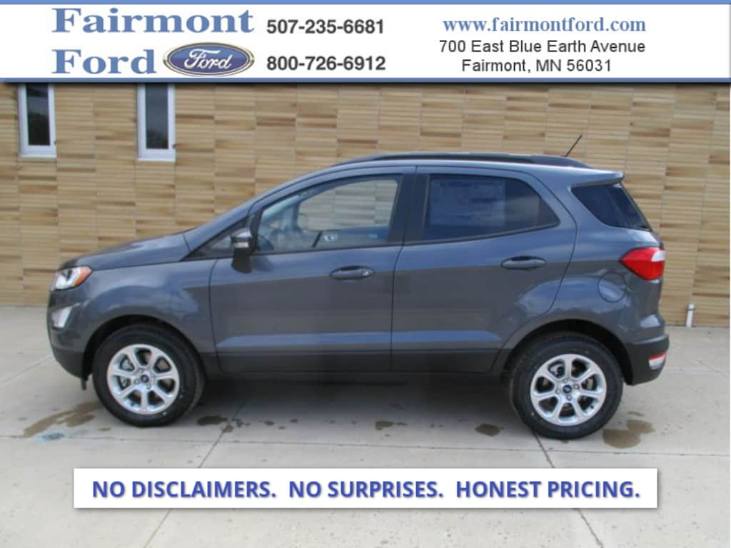 New 2019 Ford Ecosport For Sale At Fairmont Ford Vin