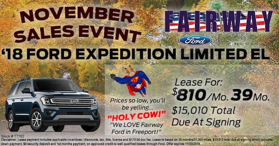 Ford Expedition Lease >> Best Ford Expedition Deal Fairway Ford
