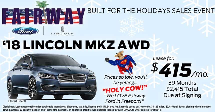 Lincoln Mkz Lease >> Lincoln Mkz Premier Awd Lease Special Fairway Ford