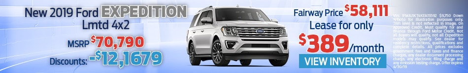 New 2019 Ford Expedition Lmtd 4x2