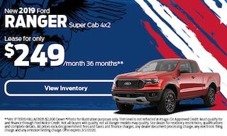 New 2019 Ford Ranger Super Cab 4x2