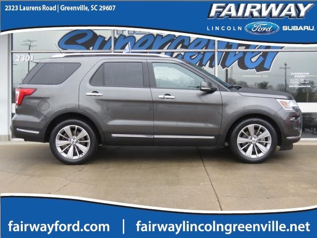 Fairway Ford Greenville Sc >> Certified Pre Owned 2018 Ford Explorer Limited For Sale In Greenville Sc 1fm5k7f85jga28189