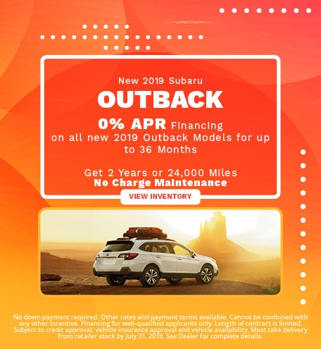 New 2019 Subaru Outback - July '19