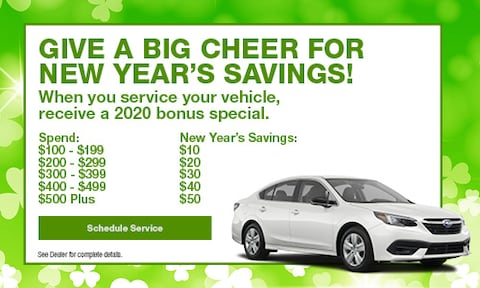 Give a Big Cheer for New Year's Savings!