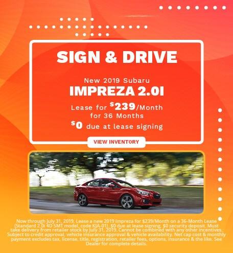 New 2019 Subaru Impreza - July '19
